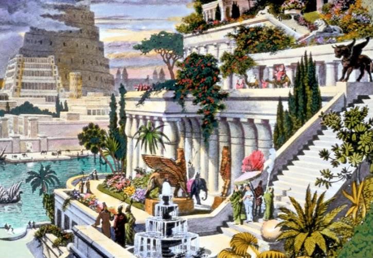 «Висячие сады Семирамиды» на гравюре 19 века