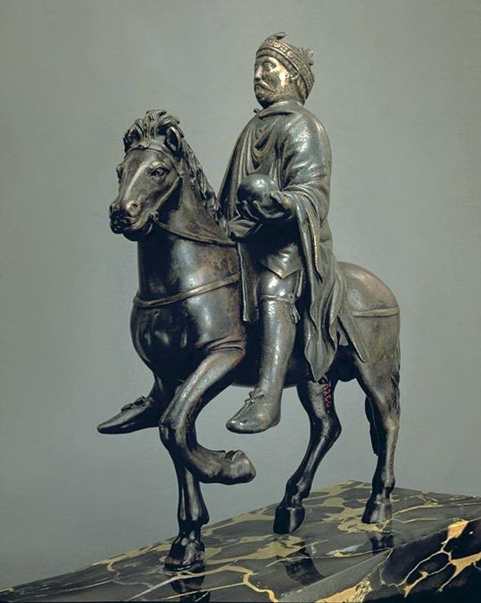 Бронзовая скульптура Карла Великого
