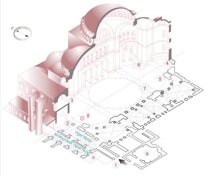 Собор Святой Софии (схема)