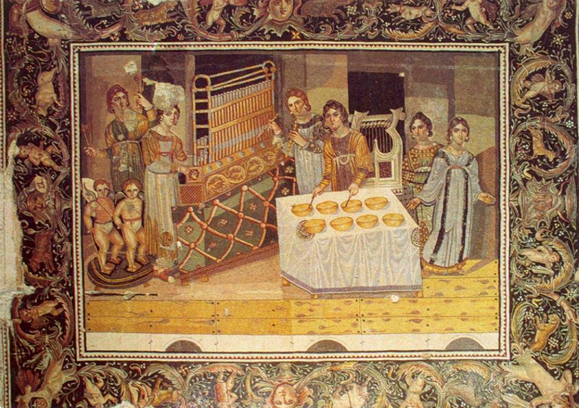 Мозаика из византийской виллы в деревне Марьямин(Сирия)