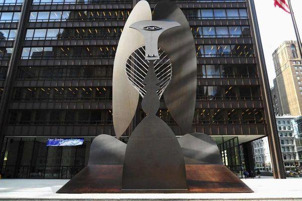 Пикассо, Скульптура из плоских листов железа