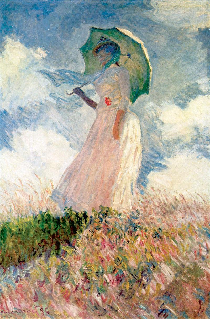 Моне, Женщина с зонтиком