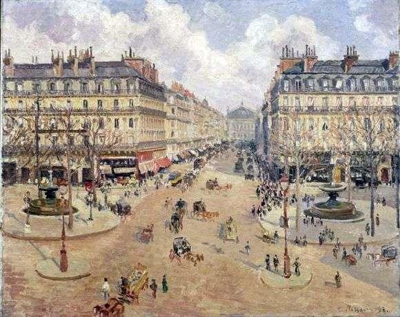 006-Рис.05 Писсаро, Оперный проезд в Париже