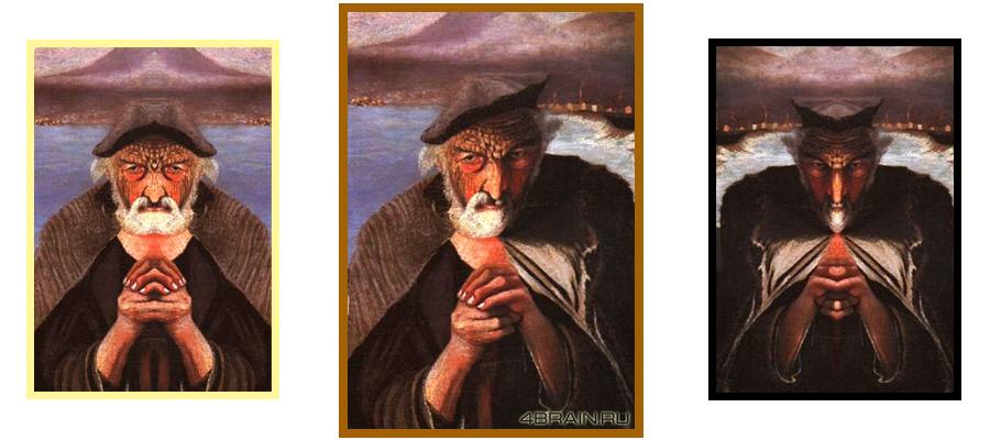 Бог и дьявол на картине Старый рыбак
