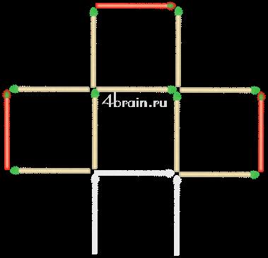 Как из пяти квадратов сделать один 52