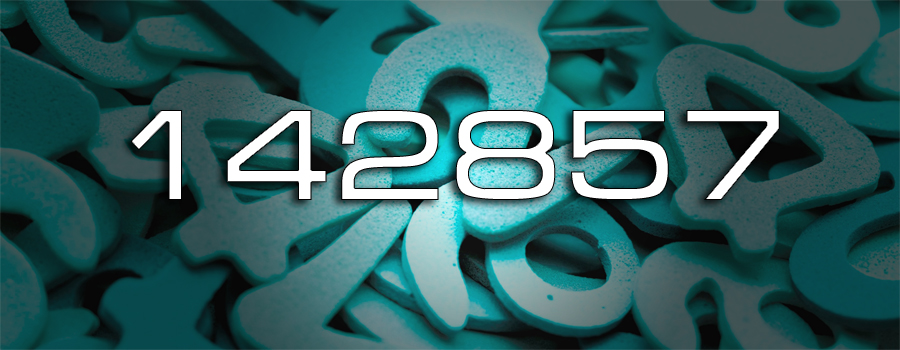 Число 142857
