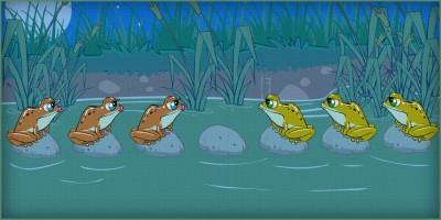 Головоломка «6 лягушек»