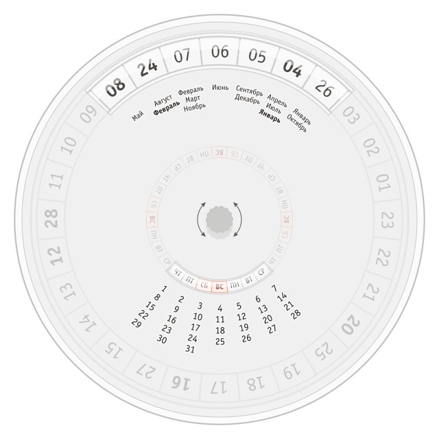 Вечный календарь своими руками дисковый