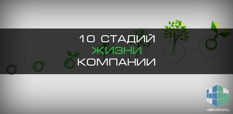 Десять стадий жизни компании