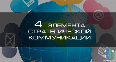 Четыре элемента стратегической коммуникации