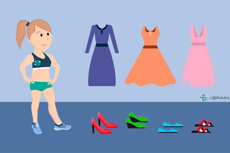 задача про платья и туфли