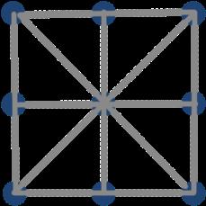 Варианты решения задачи с 9 точками задачи на силу всемирного тяготения с решением