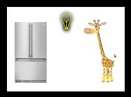 Как положить жирафа в холодильник?